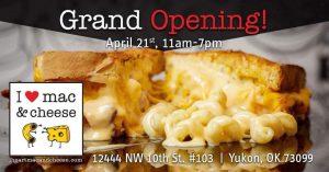 Grand Opening - I Heart Mac & Cheese @ I Heart Mac & Cheese | Yukon | Oklahoma | United States